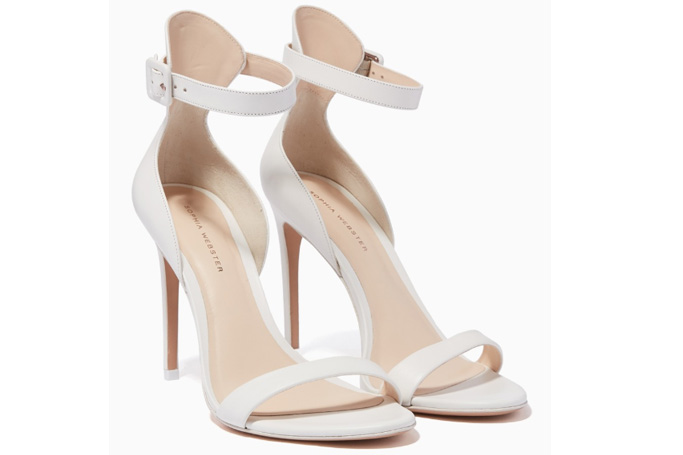 Sophia Webster - White Leather Nicole Sandals